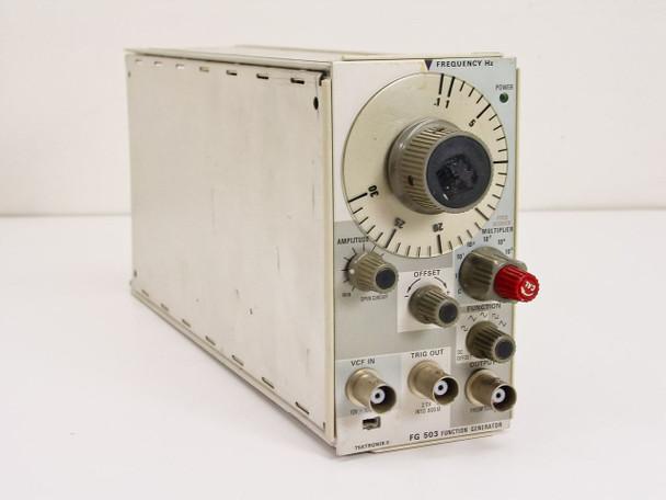 Tektronix FG 503 Function Generator Plug-In 1Hz ~ 3MHz (TM 501) - As Is