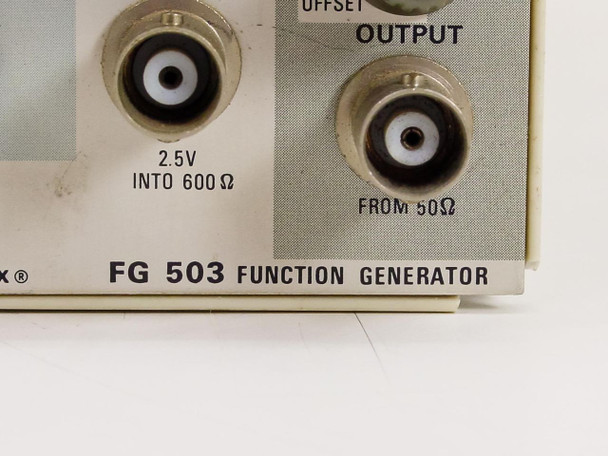 Tektronix  FG 503  Function Generator 1.0 Hz TO 3 MHz - USABLE TO 5 MHz