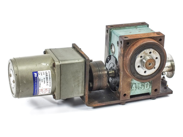 Tung Lee 4RK25GN-C Reversible Motor w/ BD-2AA-007-P01-0 Indexing Drive