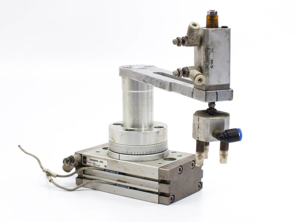 SMC MSQB30R-A93 Pneumatic Actuator Rotary 190 with Robotic Arm