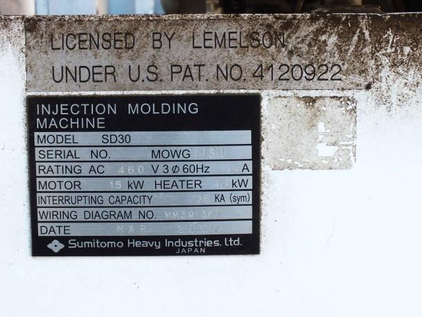 Sumitomo Heavy Industries SD30 Injection Molding Machine