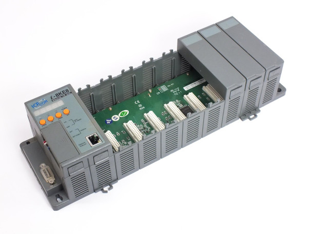 ICP DAS Embedded Ethernet I/O Unit PLC Industrial with B884 Backplane  I-8KE8-G