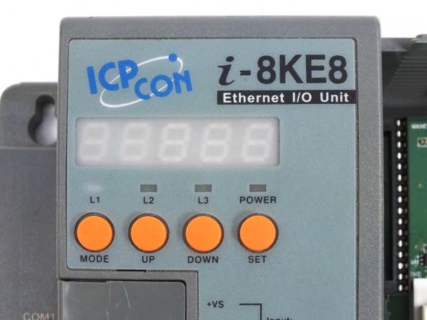 ICP DAS Embedded Ethernet I/O Unit PLC Industrial with B884 Backplane  I-8KE8-G