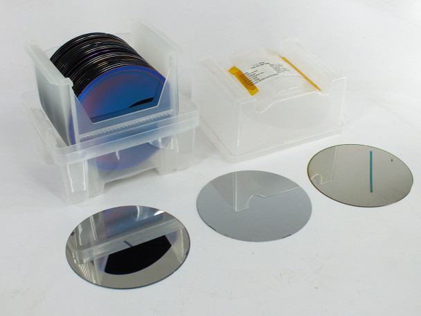"""Entegris X9150-0406 Ultrapak WaferShield with 25 RANDOM 6"""" 150mm Silicon Wafers"""