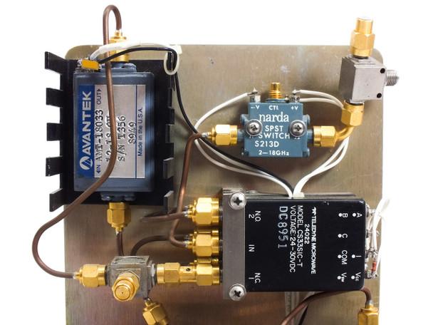 Avantek ATM-18033 RF/Microwave Signal Amplifier w/ VMC DAD1114-80 & NARDA S213D