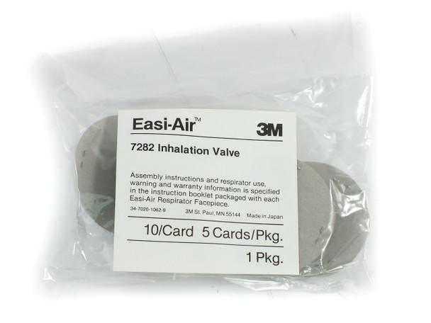 3M 7282 Easi-Air Inhalation Valve 7800S Series Facepiece Respirator - Bag of 50