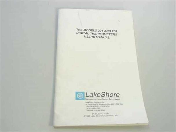 LakeShore Model 201 & 208 Digital Thermometer Users Manual 201 / 208