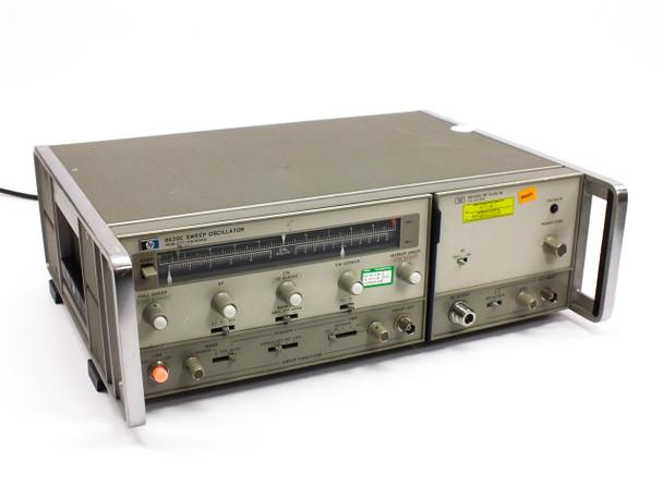 "HP 8620C 3.6~8.6GHz Sweep Oscillator with 86240C RF Plug-In in 19"" Rackmount"
