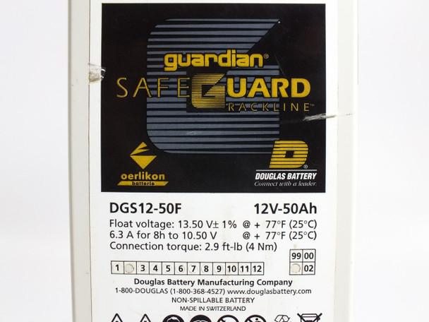 Douglas DGS12-50F Safeguard Rackline 12V 50Ah Lead-Acid Battery