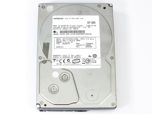 "Hitachi 0A38673 500GB 3.5"" 7200 RPM SATA Internal Hard Drive"