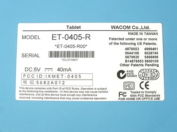 Wacom ET-0405-R Graphire Serial / PS/2 Tablet ~ Slate Blue -No Pen or Mouse
