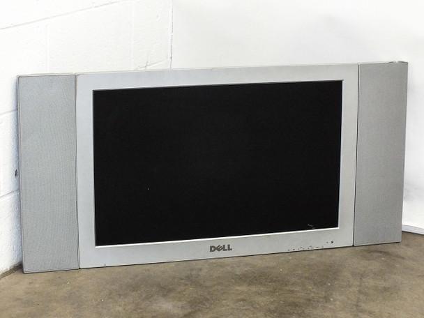 """Dell W3000 30"""" LCD TV HD Monitor/Screen DVI VGA RCA S-Video F3166 -No Remote"""