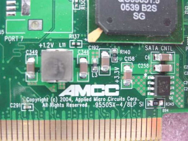 AMCC 9550SX-4LP 700-0189-04 3ware 64-bit PCI-X SATA II Raid Controller Card