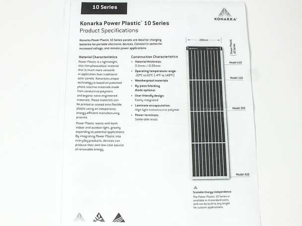 Konarka Model 110 4.0 Volt Power Plastic Flexible Solar Panel Cell .477 Watt