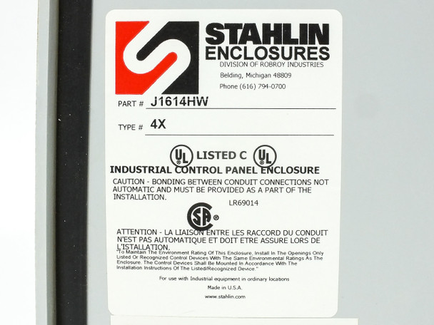 Stahlin J1614HW Solar Panel Combiner Box with 11 Circuit Breaker Holders