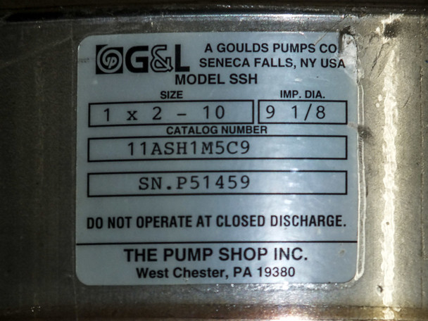 Goulds Pumps SSH Series Water Pump 15HP 230/460 Volt AC (11ASH1M5C9)