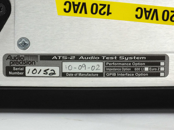 Audio Precision ATS-2 Audio Test System PCMCIA Interface