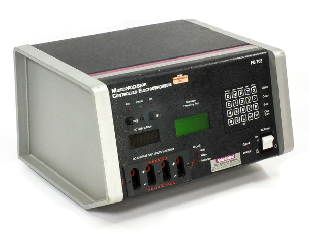 Fisher Biotech FB 703 Microprocessor Controlled Electrophoresis Power Supply