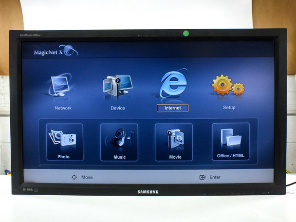 "Samsung 400pxn SyncMaster 40"" LCD Widescreen Display 720p NO REMOTE / LOCKED"