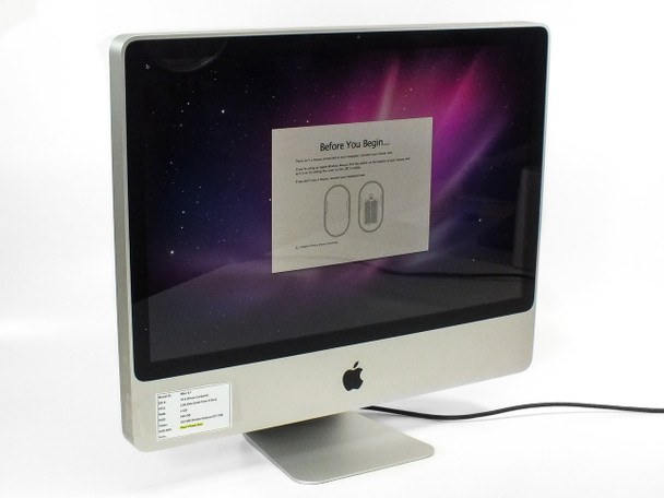 "Apple A1225 24"" iMac 9.1 Core 2 Duo 3.06GHz 640GB HDD - Bad Optical Drive -As Is"