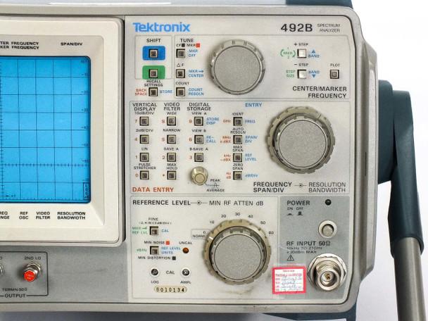 Tektronix 492B Programmable Spectrum Analyzer 10 kHz to 21 GHz Opt 8
