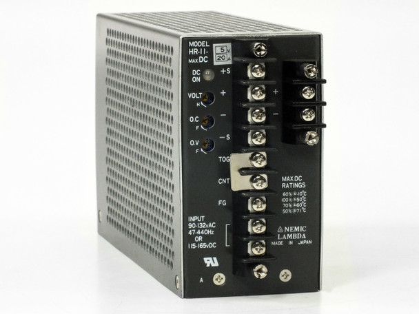 Nemic Lambda HR-11 DC Power Supply PRI: 115 Volt AC SEC: 5 Volt DC 20 Amp