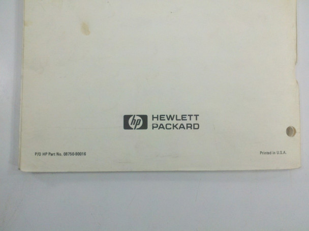 HP 8750A Dual-Channel Storage Normalizer & Operating Manual - As Is / For Parts