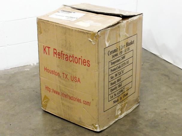 "KT Refractories LYTX-512 Ceramic Fiber Blanket 2600° F 300"" Long x 24"" Wide x 1"""