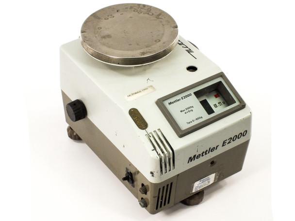 """Mettler E2000 2kg Capacity Gram Scale w/ 5"""" Table - 120V - E 2000 - Tested GOOD!"""