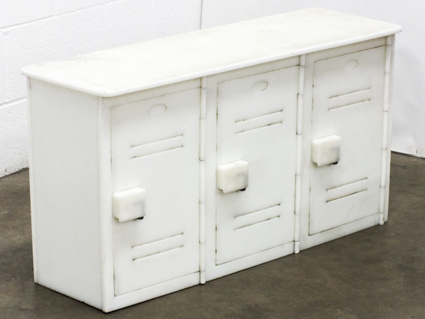 Bradley Corp. Lenox Three-Door Plastic Storage Locker Bench