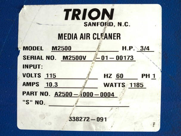 Trion M2500 AirBoss Media Air Cleaner with 3/4 HP Direct Drive Motor