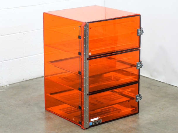 Terra Universal 1673-00 Desiccator Dry Box Orange 3 Doors 6 Shelves 20x20x27""