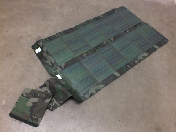 Global Solar 12V 42 Watt Foldable CIGS Military Woodland Camo Solar Panel w/ETFE