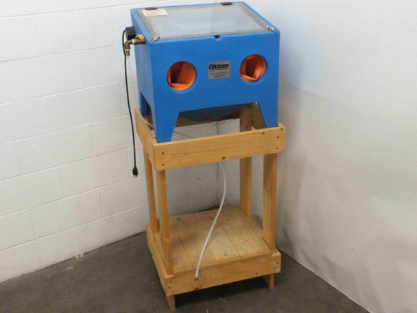 Cyclone E100 Small Trigger-Operated Bench-Top Sand Blaster Cabinet with Stand
