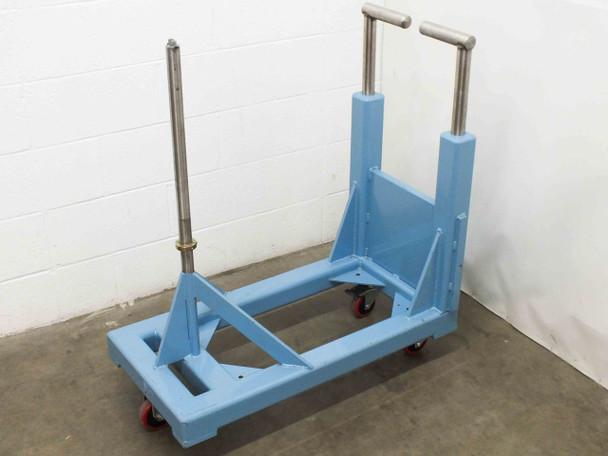 """Blue Stainless Steel Material Handler / Dispenser 1.25"""" Diameter Vertical Shaft"""