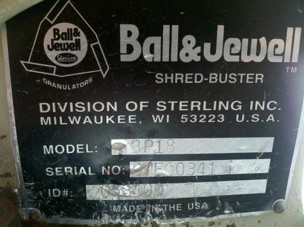 Ball & Jewell BP18 5HP Shred Buster Plastic Granulator Shredder 230/460 VAC