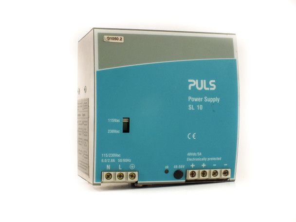 Puls SL10.101 DIN-Rail Mount Power Supply PRI: 115/230 VAC SEC: 48 VDC 5 Amp