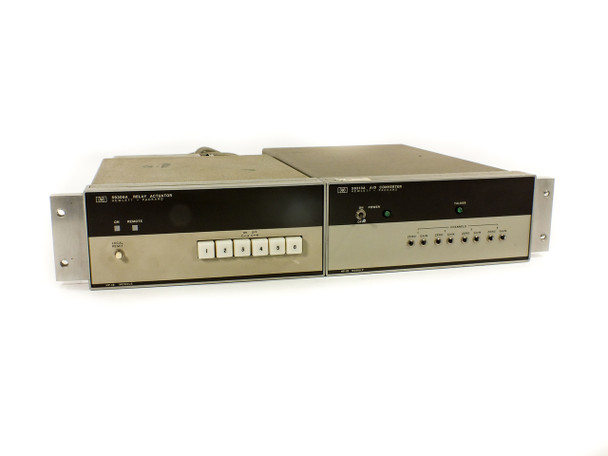 "HP 59313A / 59306A 19"" Rackmount Pair of 59313A Analog Digital Converter & 59306A Relay Actuator"