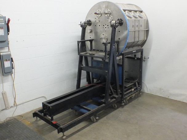 """Stainless Steel Vacuum Chamber Roll-to-Roll Sputtering System with 15"""" Rollers"""