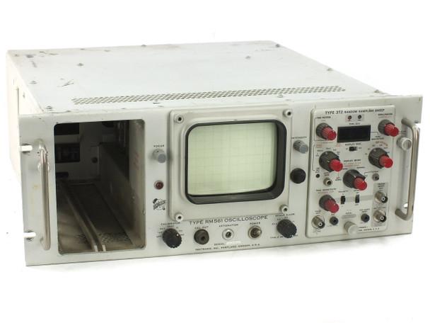 Tektronix RM561 Type Oscilloscope w/ 3T2 Random Plug-In - No Beam - As Is Parts