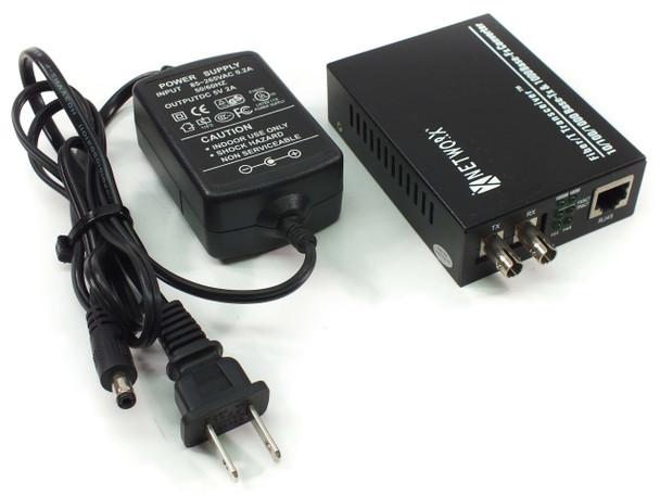 Networx FT-1000MM-ST850 10/100/1000M Gigabit Ethernet Fiber Media Converter