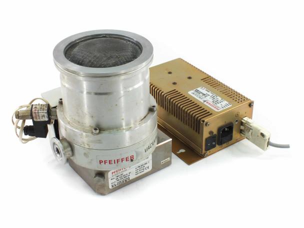 Pfeiffer THM 261 Vacuum Turbo Pump w/ TPS 200 Controller + PM Z01 252 PM Z01 135