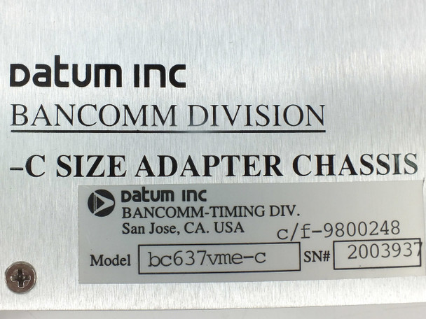 Datum bc637vme-c GPS Time and Frequency Processor with User Guide