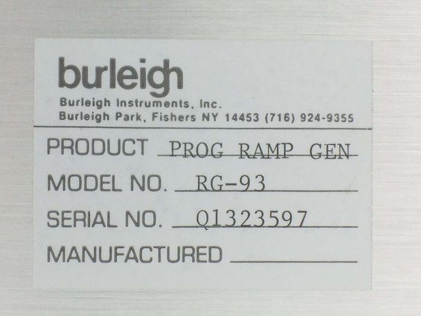 Burleigh RG-93 Piezoelectric Scanning Control 3-Channel Ramp Generator Unit
