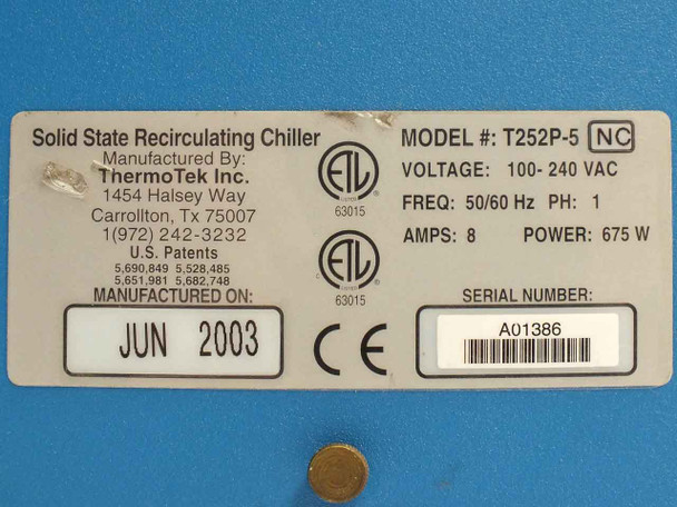ThermoTek T252P-5 Solid State Recirculating Chiller