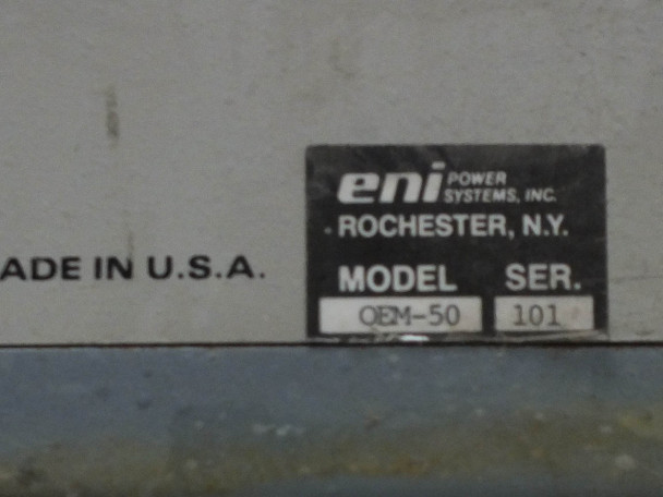 ENI OEM-50N-11601 13.56 MHz RF Plasma Generator Solid State for Sputter Chamber