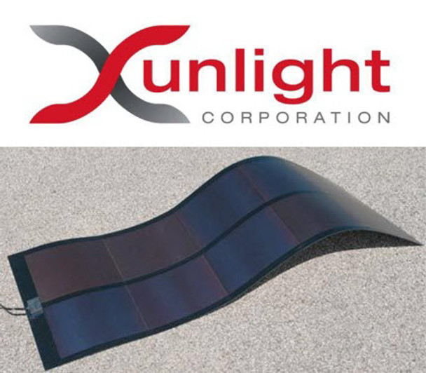 Xunlight XLS19-126 126 WATT Flexible Amorphous Solar Panel for Battery Charging