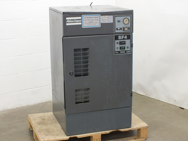 Atlas Copco SF4 Air Compressor and Dryer - SEIZED Compressor - As Is / For Parts