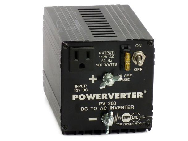 Tripp Lite PV 200 Powerverter 200W 12V DC to 117V AC - Automotive Power Inverter