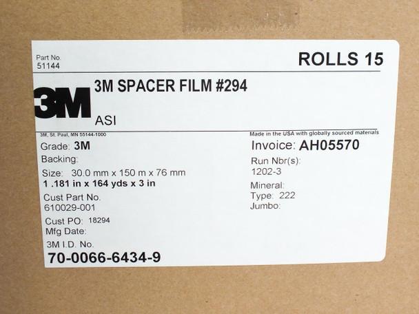 3M UBF-9L Ultra Barrier Top Sheet Solar Panel Spacer Film - Box of 15 150m Rolls